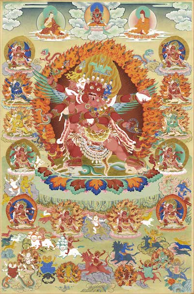 Presentation of Orgyen Tobgyal's Set of Ten Kagyé Thangkas